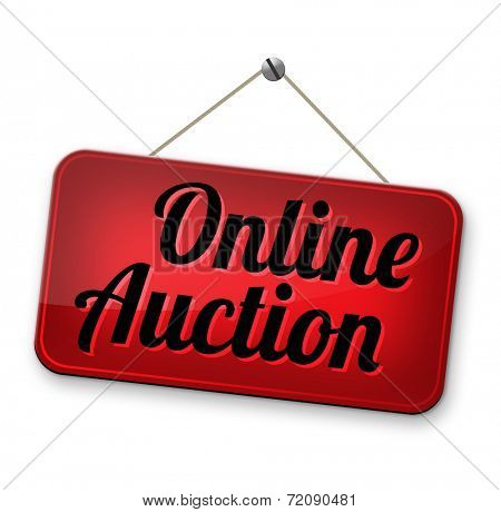 Online auction bidding. Buy or sell on the internet.