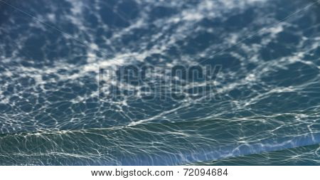 Blur abstract light blue water ripple background poster