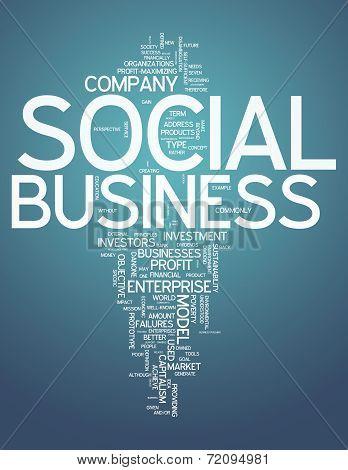 Word Cloud Social Business