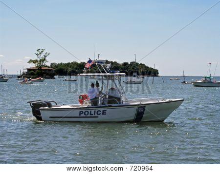Police Boat On Patrol