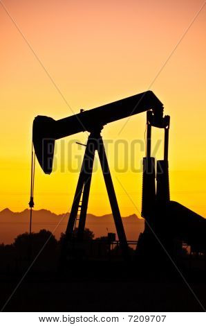 Oil Field Sunset