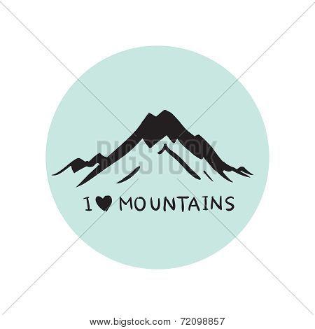 Blue mountains  illustration  vector
