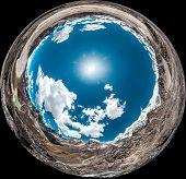 360 Degrees Panoramic View from Gokyo Ri. Himalaya, Nepal poster