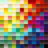 Colorful squares or pixels from light to darkgradiant colors poster