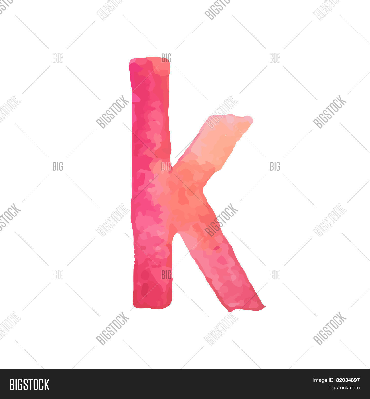 Letter K Colorful Vector & Photo (Free Trial) | Bigstock
