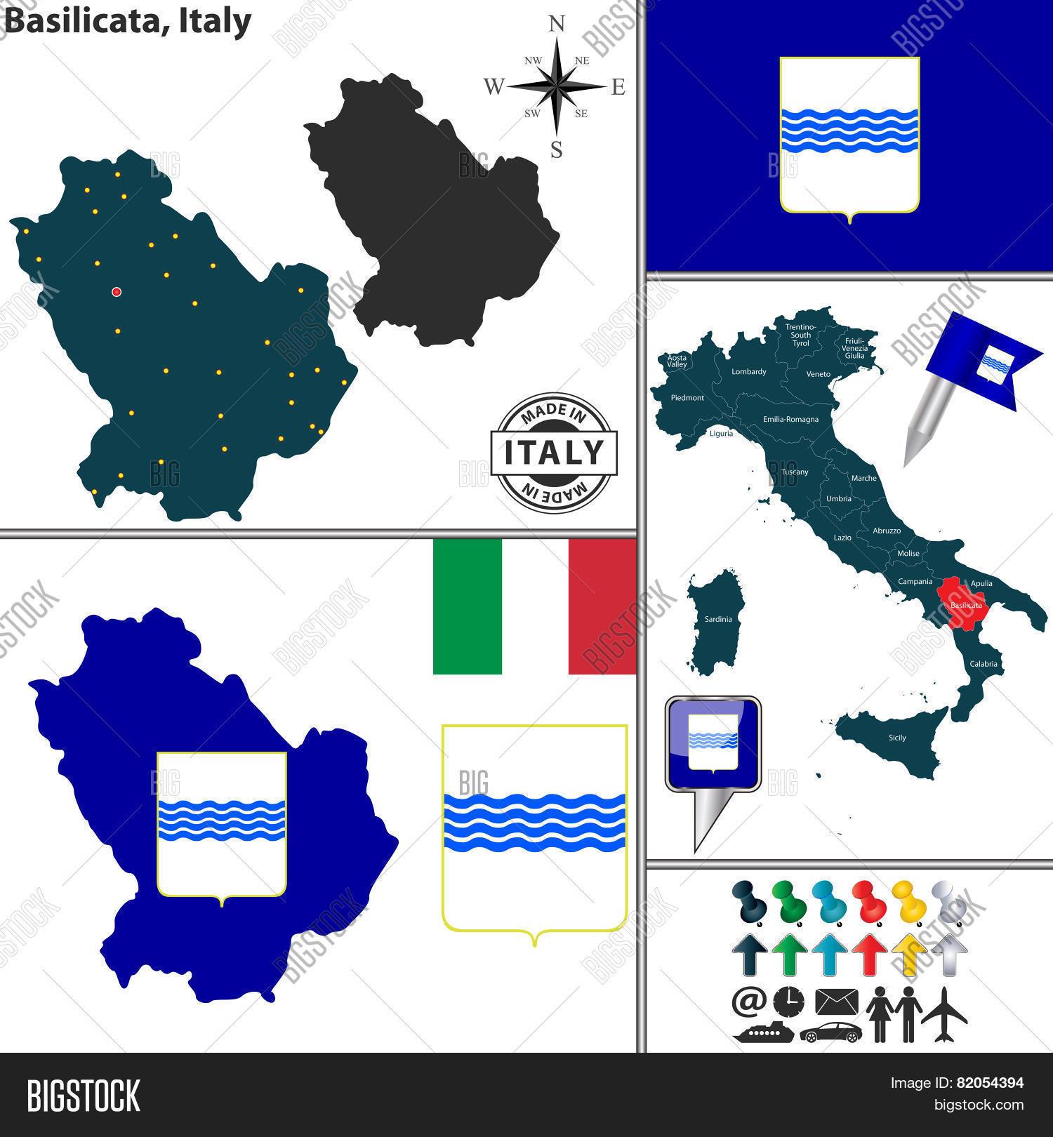 Map Basilicata Italy Vector Photo Free Trial Bigstock