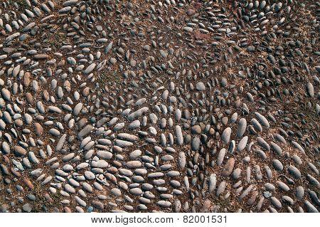 Stone Mosaic Floor Background