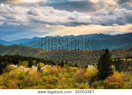 North Carolina Blue Ridge Parkway Scenic Mountain Landscape Asheville Nc