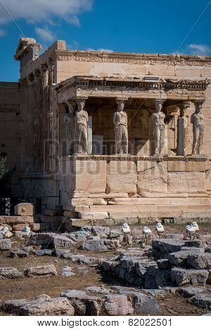 The Erechtheum In Acropolis Of Athens