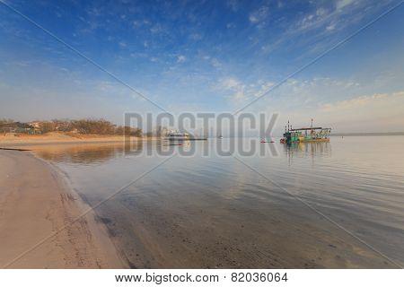 Australian Foggy Morning At Broadwater