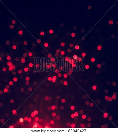 Vintage Red Bokeh As Background