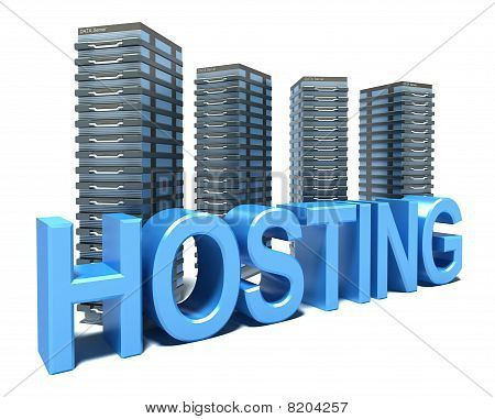 Hosting in front of grey Servers