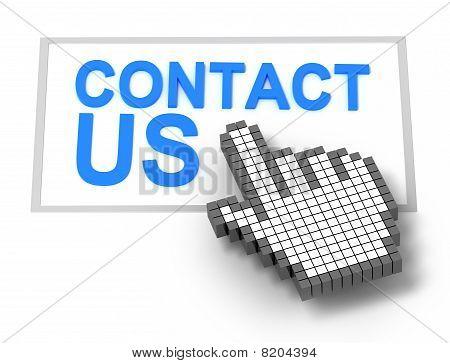 Kontakt Konzept isoliert auf weiss
