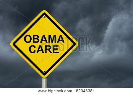 Obamacare Warning Sign