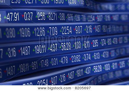 Abstract stock ticker