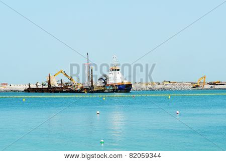 Dubai, Uae - September 12: The Construction Of The Us$1.63Bn Bluewaters Island Project Where Will Be