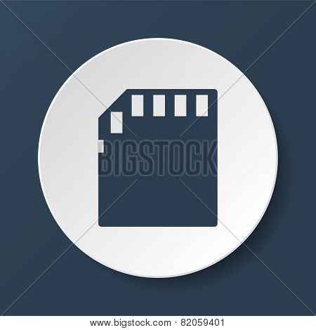Micro sd card. Vector illustrator EPS 10 poster