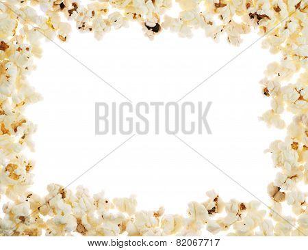 Frame made of popcorn