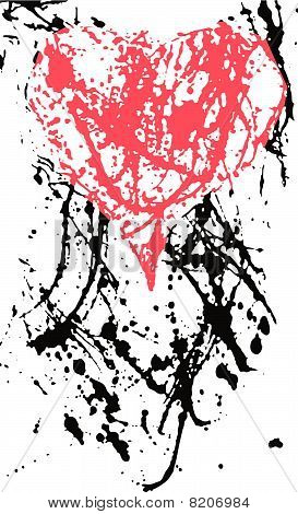distressed heart background design