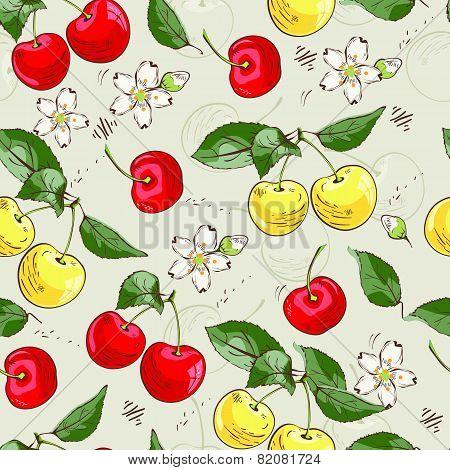 Sweet cherry pattern