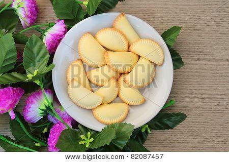Thai Dessert In White Plate