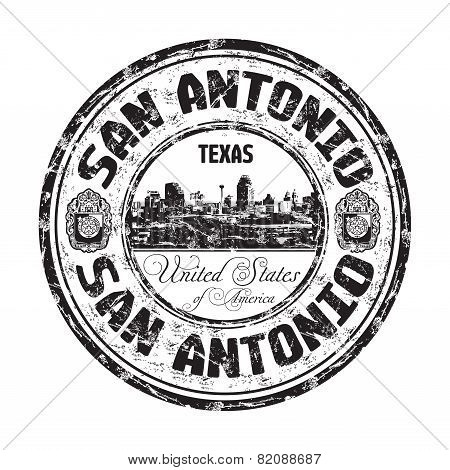 San Antonio grunge rubber stamp