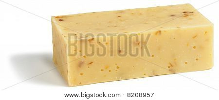 Bar Of Organic Soap On A White Background