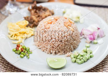 Fried Rice With The Shrimp Paste