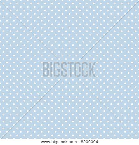 Naadloze Polka Dot patroon, Pastel Blue