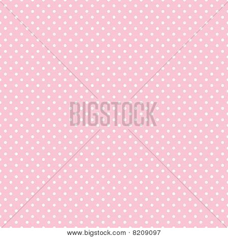Seamless Polka Dot Pattern, Pastel Pink