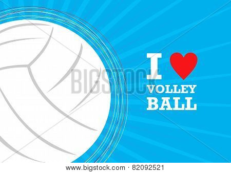 Vector background volleyball theme. The stylized image of a volleyball ball poster