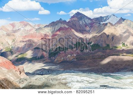 Beautiful mountain view in Pamir region Kyrgyzstan