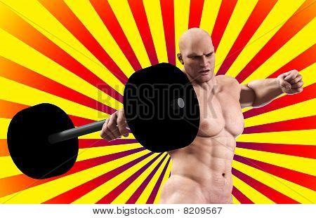 Strong Man Lifting Weight