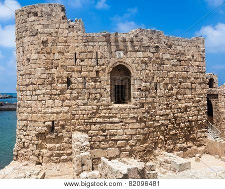 Sidon Crusader Sea Castle Lebanon