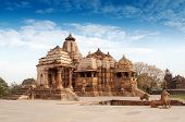 Devi Jagdambi Temple dedicated to Parvati Western Temples of Khajuraho. it's an UNESCO world heritage site - popular amongst tourists all over the world. poster