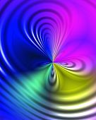 An unknown force swallows different colours leaving a beatiful pattern. poster