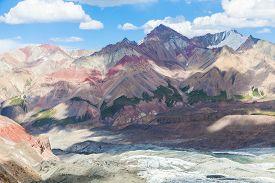 Beautiful mountain view in Pamir region Kyrgyzstan
