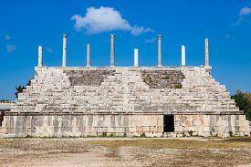 Ancient Roman ruins of Hippodrome in Tyre Lebanon