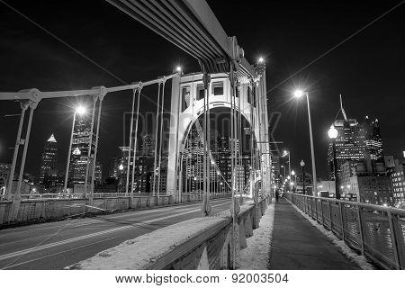 Steel Bridge In Pittsburgh