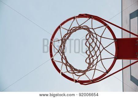 Under the hoop