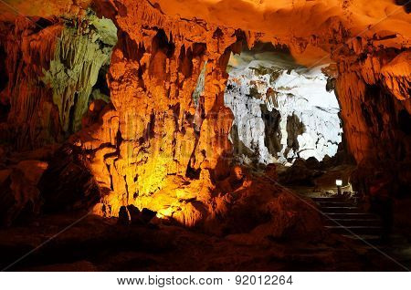 Halong Bay Vietnam - March 04, 2015 - Inside