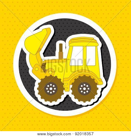 Construction design over yelllow background vector illustration