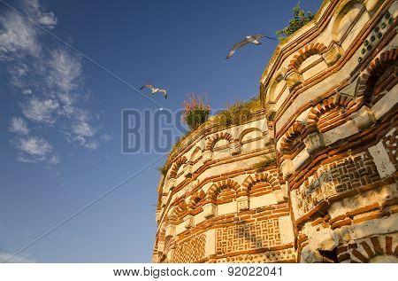 Church Of St. John Aliturgetos, Old Town Of Nesebar, Bulgaria, Bulgarian Black Sea Coast. Unesco Wor