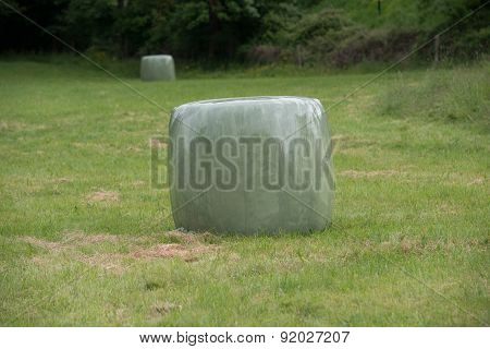 Bale Of Straw Into Plastic #2