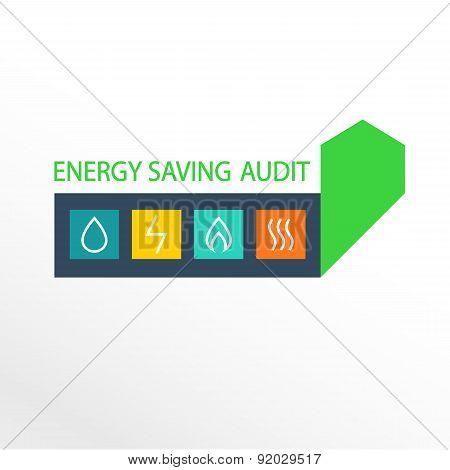 Vector logo, energy efficiency. Diagram of growth of energy efficiency, saving resources. poster