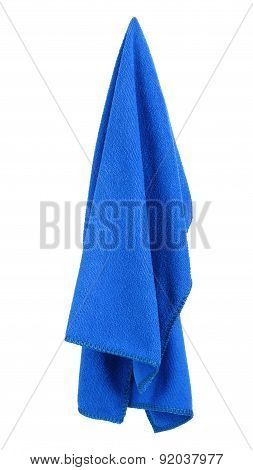 Hanging blue and clean towel