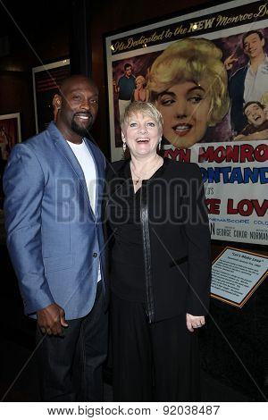 LOS ANGELES - MAY 27: Jerome Ro Brooks, Alison Arngrim at the Marilyn Monroe Missing Moments preview at the Hollywood Museum on May 27, 2015 in Los Angeles, California