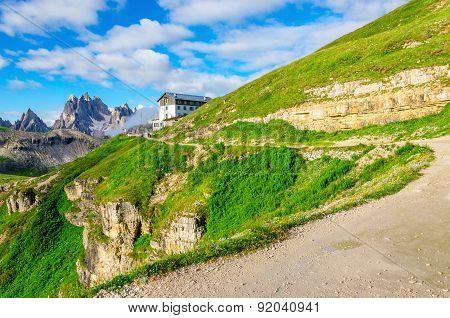Mountain view near Tre Cime di Lavaredo, Italy