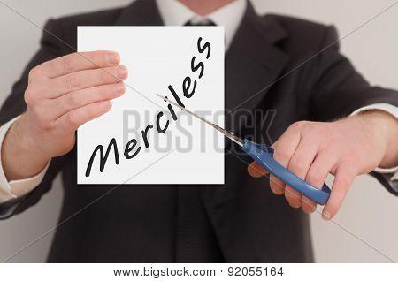 Merciless, Determined Man Healing Bad Emotions