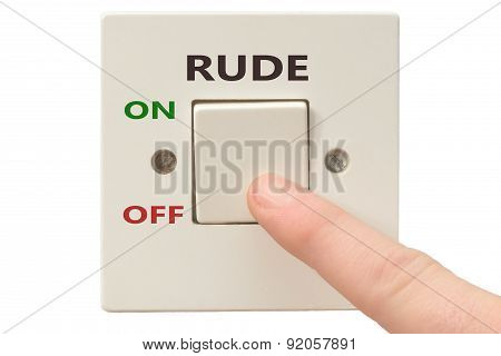 Anger Management, Switch Off Rude